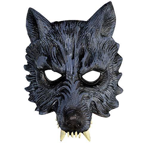 AMSCAN Werewolf Half Mask Halloween Costume Accessories, One Size]()