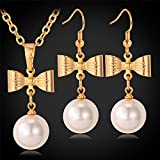 GDSTAR Bridal Jewelry Sets Earrings Set 18K Gold Plated intage Wedding Accessories