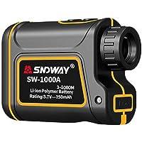 SAWEY Télémètre de Golf, télémètre Laser 656 Verges avec Correction de Distance, Vitesse, portée, mât de Drapeau, Brouillard, Distance Horizontale, Mode Hauteur Uniques - Noir