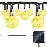 LIFU Globe Solar String Lights, 20ft 30 Waterproof LED Fairy...