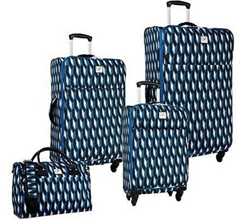 The Set of Classic Indigo/Black/White Women's Lilah 4-Piece Luggage Set