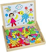 TONZE Puzzle Legno Magnetico Lavagna Magnetica Legno Giocattoli Animali Jigsaw Puzzle Lavagna Double Face Giochi Montessori per Bambini 3 4 Anni