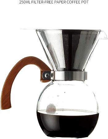 Filtro de goteo Máquina de café Papel sin filtro Malla de acero inoxidable Filtro de goteo Filtro de café Olla de café Cafetera lavada a mano, para restaurantes de oficina: Amazon.es: Hogar