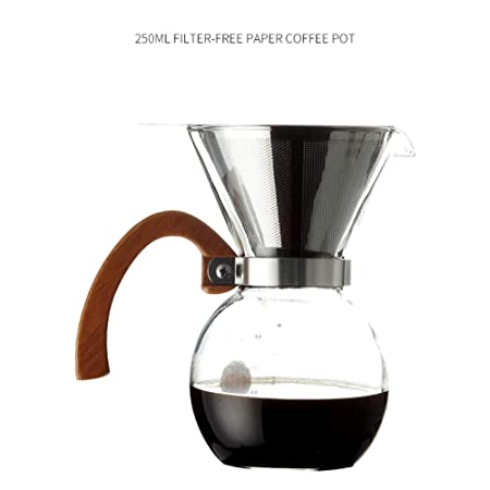 Filtro de goteo Máquina de café Papel sin filtro Malla de acero ...