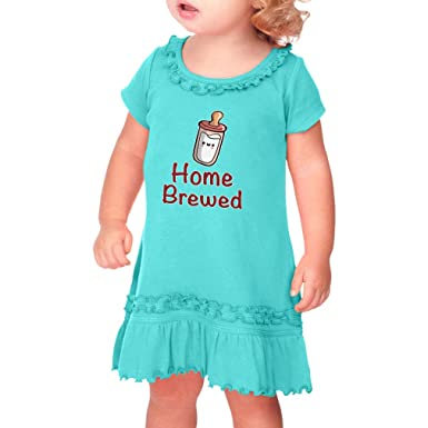 e4aca9fcd73c Cute Rascals Home Brewed Taped Neck Toddler Short Sleeve Girl Ruffle Cotton Sunflower  Dress - Caribbean