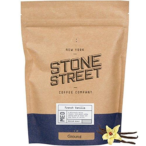 Stone Street Coffee Freshly Roasted Colombian Arabica Cinnamon/Nutmeg Creamy FRENCH VANILLAGround Coffee, 1 lb