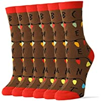 6-Pack Oooh Yeah Women's Crew Funny Novelty Stranger Socks