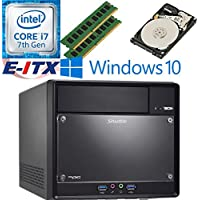 Shuttle SH110R4 Intel Core i7-7700 (Kaby Lake) XPC Cube System , 16GB Dual Channel DDR4, 2TB HDD, DVD RW, WiFi, Bluetooth, Window 10 Pro Installed & Configured by E-ITX