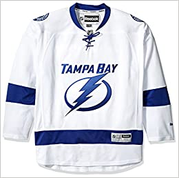 37e935ea295 Amazon.com  Tampa Bay Lightning Reebok Premier Replica Road NHL Hockey  Jersey - Size X-Large (0884899708854)  Books