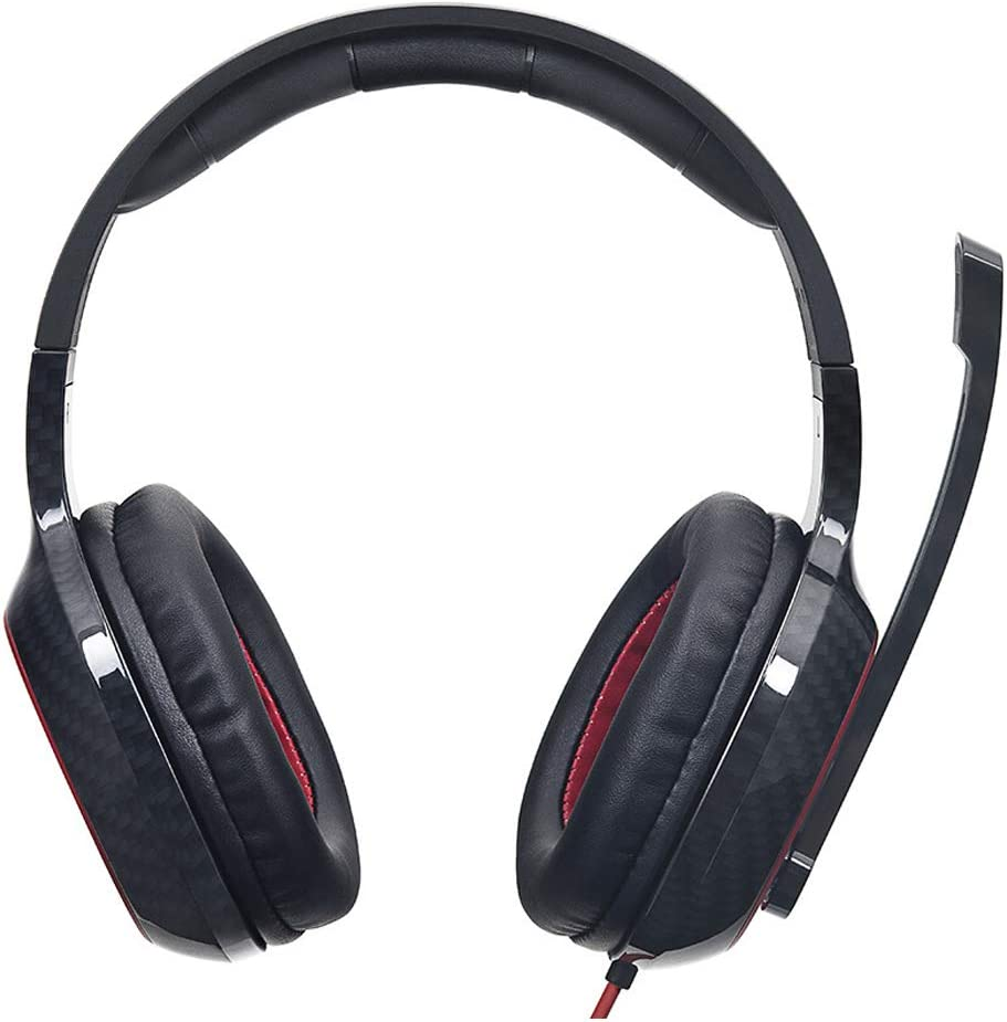 Bass Surround and Noise Cancelling Over Ear Headphones with Flexible Mic for Laptop Pc Mac XHN Noise Cancelling Headphones for Gaming Ps4