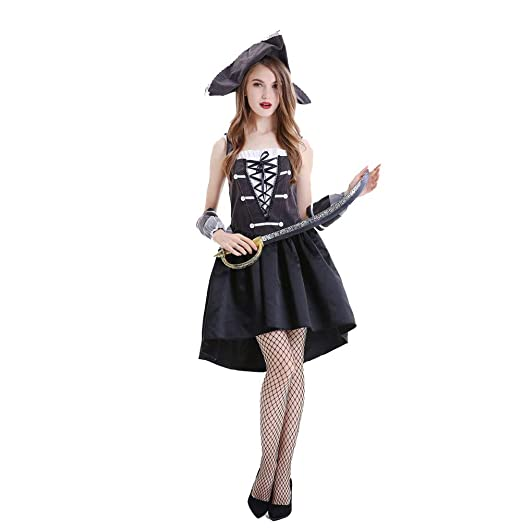 Azly-Cloth Disfraz de Disfraz de Pirata de Halloween, Juego de ...