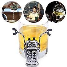 Bazaar Stainless Steel Robot Tea Leaf Strainer Tea Infuser Filter Tools With Tray