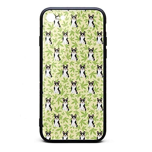 Cannabis Leaf Dog Green i-Phone 7/8 Case Protective Case Anti-Slip Fashion for i-Phone 7/8