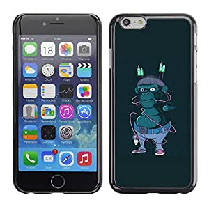 LECELL--Funda protectora / Cubierta / Piel For iPhone 6 -- Hipster Calle Gorila --