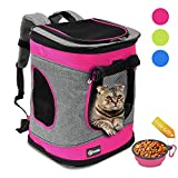 Tirrinia Pet Carrier Backpack for Cats and Dogs up to 15 LBS Airline-Approved Travel Carrier for Pets Hiking - Walking - Cycling & Outdoor Use 16