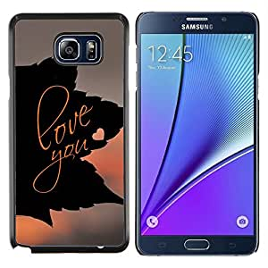 Qstar Arte & diseño plástico duro Fundas Cover Cubre Hard Case Cover para Samsung Galaxy Note 5 5th N9200 (Amarte Leaf)