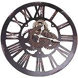 アイアンのスケルトンタイプのスタイリッシュな壁掛け時計。WALL CLOCK FACTORY B 4516393543407