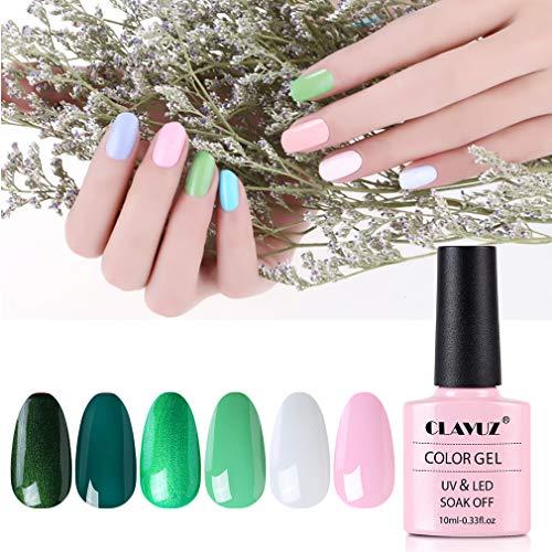 Gel Nail Polish Set - 6 Pcs 10ml Gel Nail with Gift Box, Soak Off Nail Art Manicure Varnish Set, Require LED UV Nail Dryer Lamp