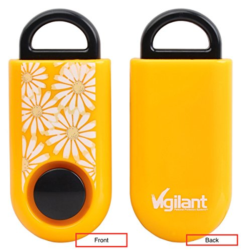 (Vigilant 120dB Micro Personal Alarm with Rip Cord Sound Activation (Orange Daisies))