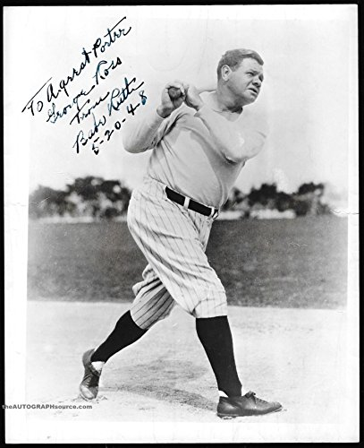 Babe Ruth Autographed Baseball Photograph - signed for sale  Delivered anywhere in USA