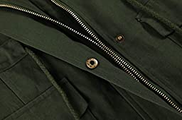 Meaneor Womens Lightweight Sleeveless Military Anorak Vest, Medium, Army Green