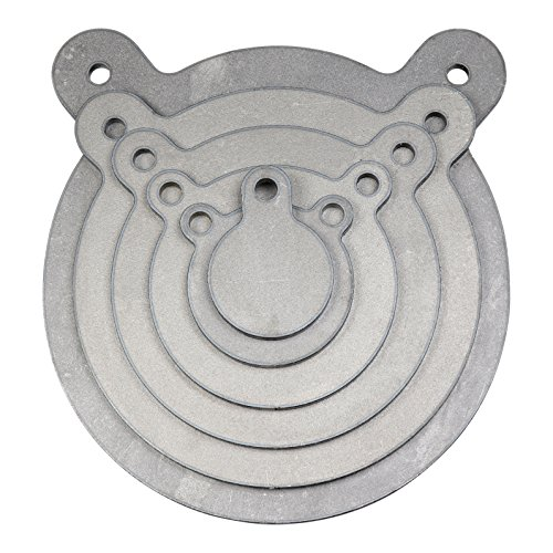 ShootingTargets7 AR500 Steel Target Gong Set - 3 4 6 8 10 12 x 1/2 inch for Large Rifles - Metal Swinging Shooting Plates Combo Set