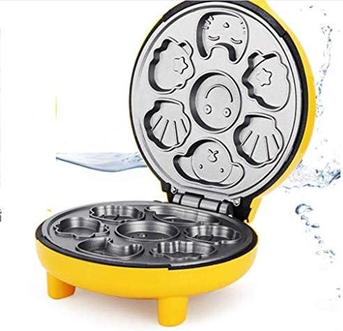 Machine à pain pratique, machine automatique gâteau de ménage, Cartoon Mini enfants Machine à pain, jaune 7 moule Zixin