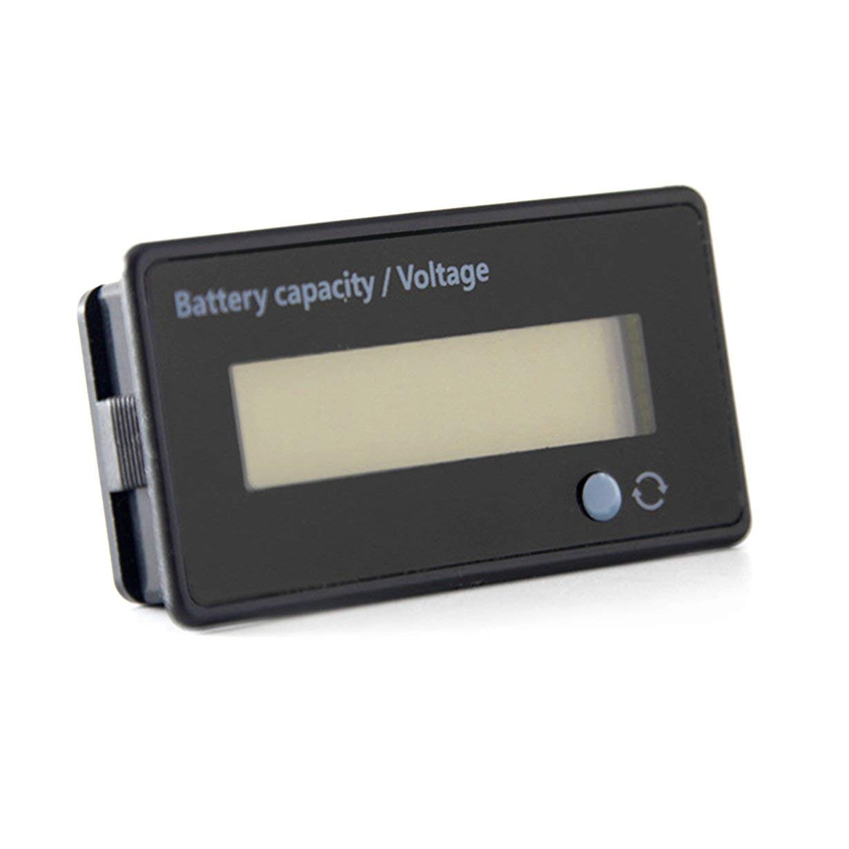 Noir Universel /Étanche 6-63V Affichage Num/érique LCD au Plomb Acide Batterie au Lithium Capacit/é Indicateur de Tension Testeur Dispositif