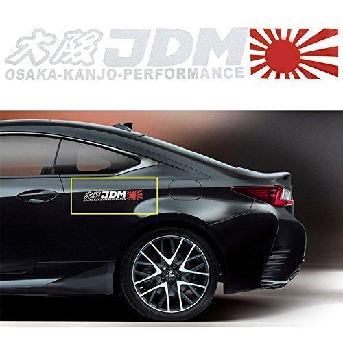 Xotic Tech Osaka-KANJO-Performance Letter Decal Rising Sun JDM Japanese Performance Vinyl Sticker