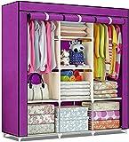 اداة فريدة من نوعها عبارة عن خزانة ملابس من قماش فاخر قابلة للحمل والطي وتقليل الحجم دولاب ملابس برفوف تخزين كبينة…