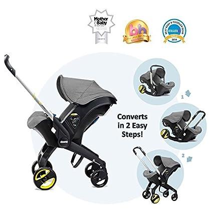 Doona Storm (gris) grupo 0 + – Silla de bebé para coche