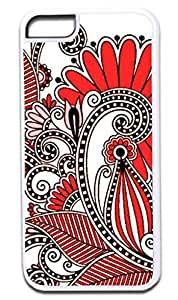 01-White and Pink Paisley- Case for the APPLE IPHONE 6 ONLY!!! (Not Compatible with the Iphone 6 PLUS!!) -Hard White Plastic Outer Case hjbrhga1544