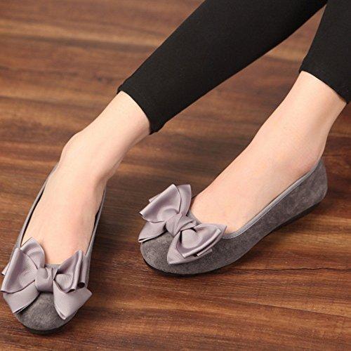 señoras Las B para zapatos bailarina del el UK4 ZHANGRONG de zapatos arco EU36 del mujer la Tamaño ballet planos en del Color nuevas detalle Dolly arco planas C CN36 Las bombas resbalón OIwwFdq