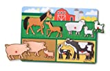 Melissa and Doug Farm Peg Puzzle, Baby & Kids Zone
