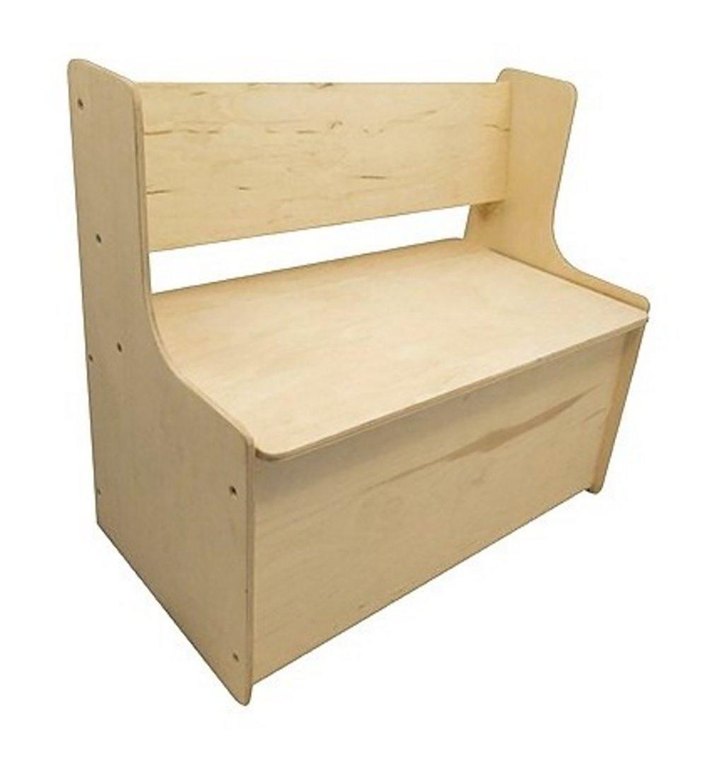 Holz aufbewahrungsbank mit gerader Rückenlehne KinderenKoning