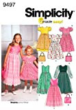 Simplicity Sewing Pattern 9497 Child/Girl Dresses, K5 (7-8-10-12-14)