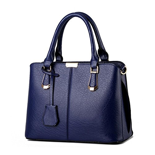 Tote Designer Ladies Purses Bag Shoulder CYHTWSDJ Bags Handbags Satchel 2 Womens Blue and Dark qw0IXRf