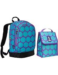 Wildkin Sidekick Backpack and Lunch Bag Bundle Set Big Dot Aqua