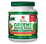 Activa Naturals Greens Superfood Powder - Vegan & Gluten Free 8.5 oz (240 gm) - Raw & Organic Green Foods with Amazing Wheat Grass, Spirulina, Raspberry, Enzymes & Probiotics - Natural Berry Flavor