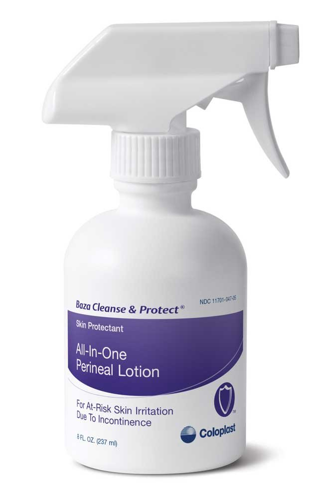 Baza Cleanse & Protect Perineal Lotion, Unscented, 8 fl. Oz. 7712 (Case of 12) by Baza