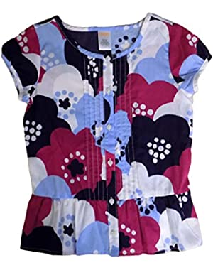 Clothes Blouse Floral Blue Purple