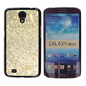 TopCaseStore / la caja del caucho duro de la cubierta de protección de la piel - Sparkling Glitter Gold Sand Summer - Samsung Galaxy Mega 6.3 I9200 SGH-i527