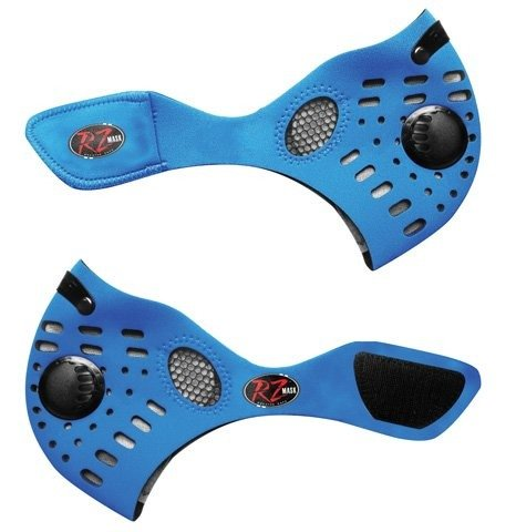 RZ Dust/Pollution Mask w/2 Laboratory Tested Filters, Model M1, Blue, Size X-Large by RZ Mask