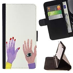 King Case - FOR Samsung Galaxy S5 Mini, SM-G800 - they were so joyful - Prima caja de la PU billetera de cuero con ranuras para tarjetas, efectivo Compartimiento desmontable y correa para la mu?eca
