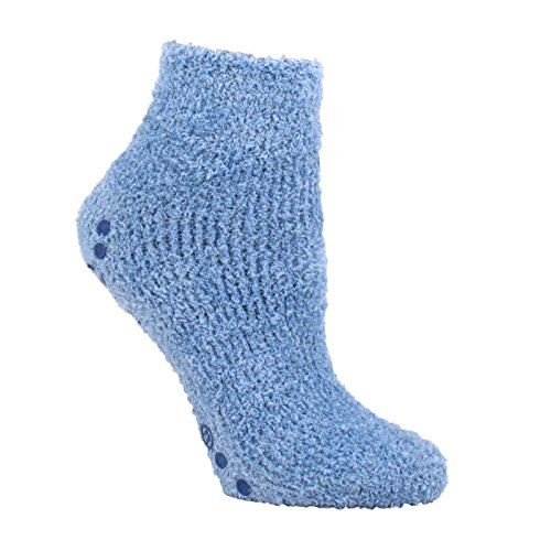 dr-scholls-womens-2-pack-low-cut-spa-socks-with-treads-pink-blue-shoe-4-10