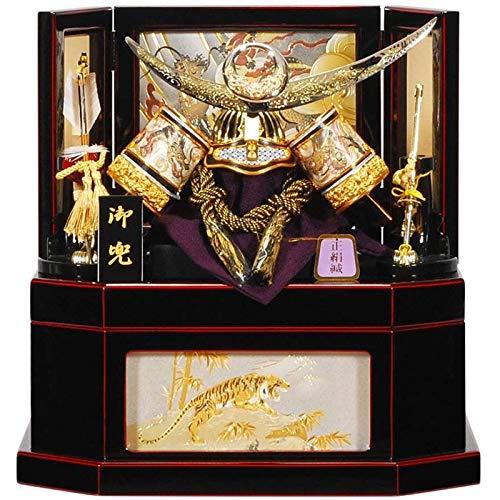 五月人形 兜 収納飾り 上杉謙信 六角 曙塗 8号 幅43cm [sb-12-97] B07N8M3GSW