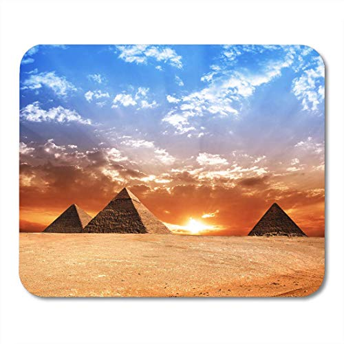 VANKINE Mouse Pads Egyptian Egypt Pyramid Historic Buildings Panorama Sunset Monument History 9.5