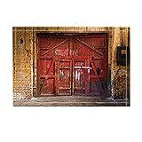 Old Red Wood Gate in Industrial Interior with Brick Wall Bath Rugs Non-Slip Doormat Floor Entryways Outdoor Indoor Front Door Mat Kids Bath Mat 15.7X23.6In Bathroom Accessories