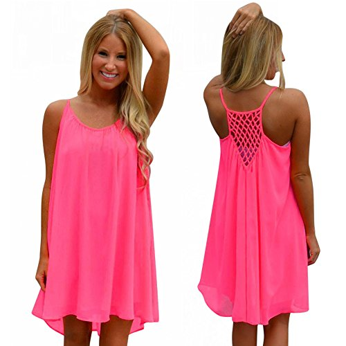 Gillberry Women Dress, Bohemia Shoulder Condole Belt Mini Club Beach Dresses (XL, Hot - Sun Coupon In