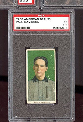 1910 T206 Tobacco Baseball Card American Beauty Paul Davidson PSA 1.5 Graded